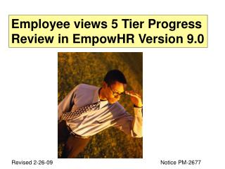 Employee views 5 Tier Progress Review in EmpowHR Version 9.0