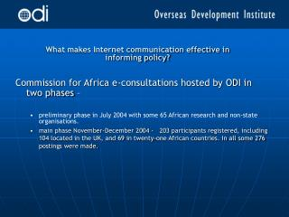What makes Internet communication effective in informing policy?