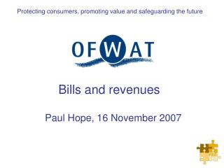 Bills and revenues