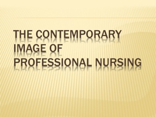 Reclaiming The Art and Image of Nursing: