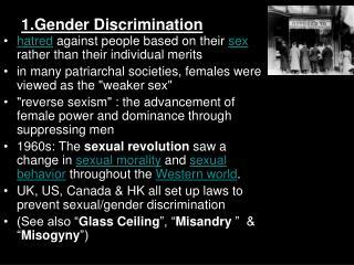 1.Gender Discrimination