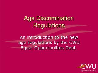 Age Discrimination Regulations