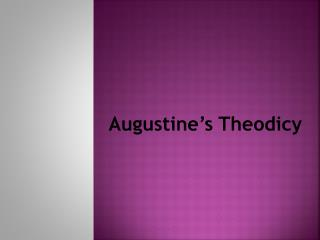 Augustine's Theodicy