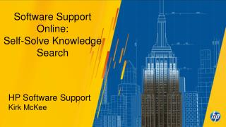 Software Support Online: Self-Solve Knowledge Search