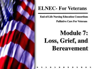 Module 7: Loss, Grief, and Bereavement