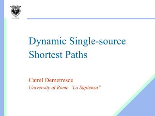 Dynamic Single-source Shortest Paths