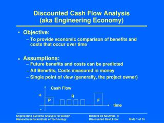 Discounted Cash Flow Analysis (aka Engineering Economy)