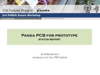 Panda PCB for prototype   status report