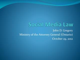 Social Media Law