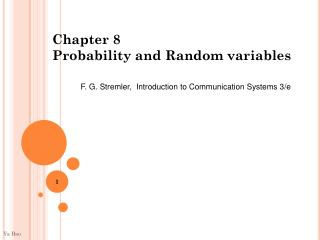 Chapter 8  Probability and Random variables