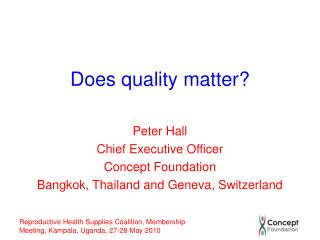 Does quality matter?
