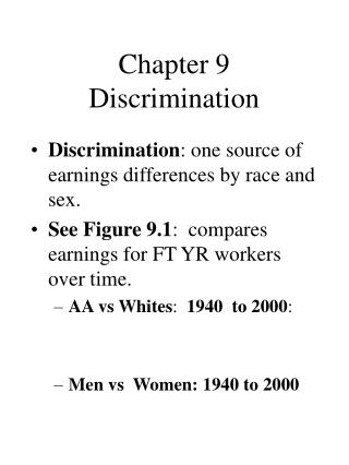 Chapter 9 Discrimination