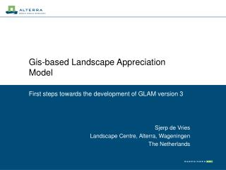 Gis-based Landscape Appreciation Model