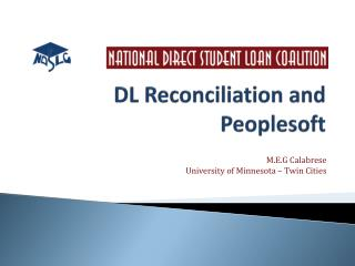 DL Reconciliation and  Peoplesoft