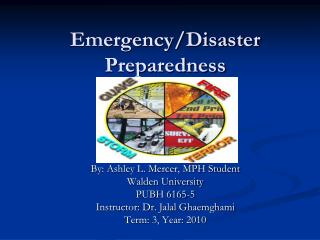 Emergency/Disaster Preparedness