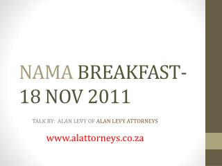 NAMA BREAKFAST- 18 NOV 2011