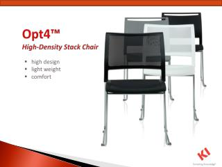 Opt4™  High-Density Stack Chair