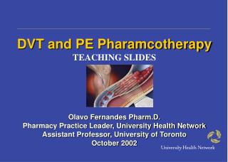 DVT and PE Pharamcotherapy TEACHING SLIDES