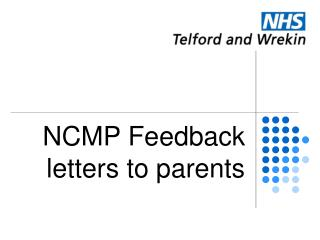 NCMP Feedback letters to parents
