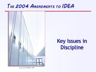 Key Issues in Discipline