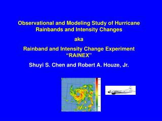 Observational and Modeling Study of Hurricane Rainbands and Intensity Changes aka