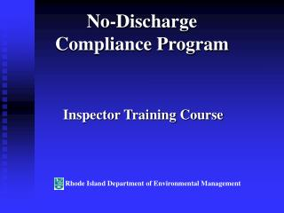 No-Discharge  Compliance Program