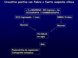 Urocultivo positivo con fiebre o fuerte sospecha clínica