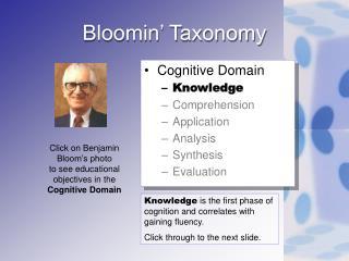 Bloomin' Taxonomy