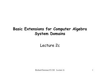 Basic Extensions for Computer Algebra System Domains