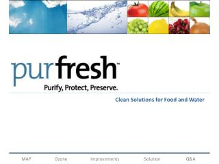 Clean Solutions for Food and Water