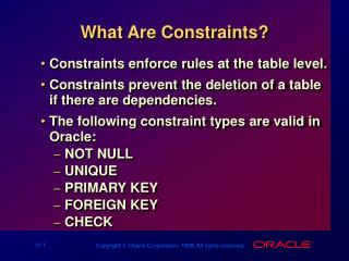 What Are Constraints?