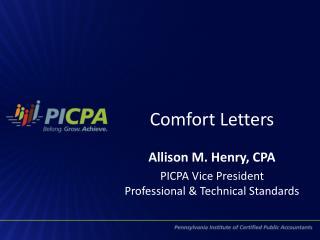 Comfort Letters