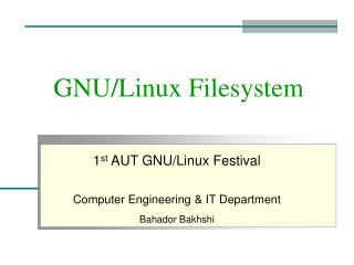 GNU/Linux Filesystem