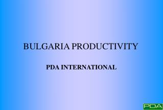 BULGARIA PRODUCTIVITY