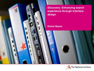 Discovery: Enhancing search experience through interface design