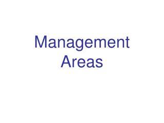 Management Areas
