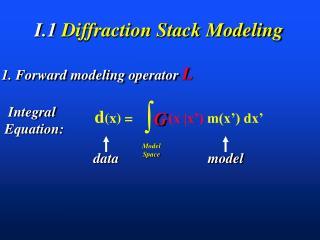 I.1  Diffraction Stack Modeling