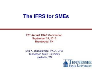 The IFRS for SMEs