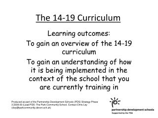 The 14-19 Curriculum