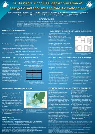 Sustainable wood use ,  decarbonisation  of  energetic metabolism  and  forest development