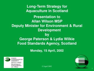 Long-Term Strategy for  Aquaculture in Scotland