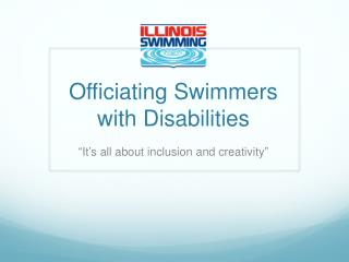 Officiating Swimmers with Disabilities