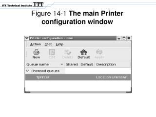 Figure 14-1  The main Printer configuration window