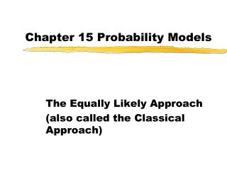 Chapter 15 Probability Models