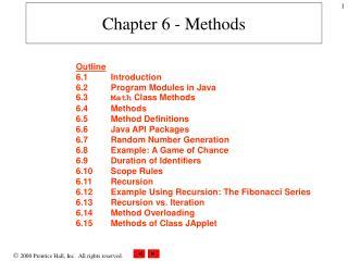 Chapter 6 - Methods