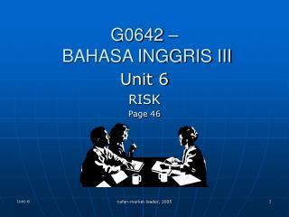 G0642 –  BAHASA INGGRIS III