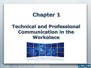 Chapter 1 Technical and Professional Communication in the Workplace