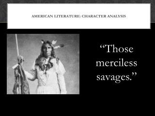 American literature: character analysis