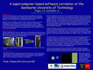 A supercomputer-based software correlator at the  Swinburne University of Technology