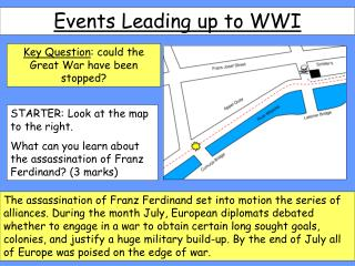 Events Leading up to WWI